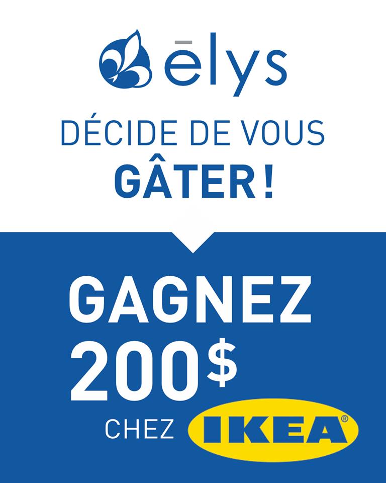 Concours Gagnez deux cartes cadeaux de 100$ chez IKÉA!