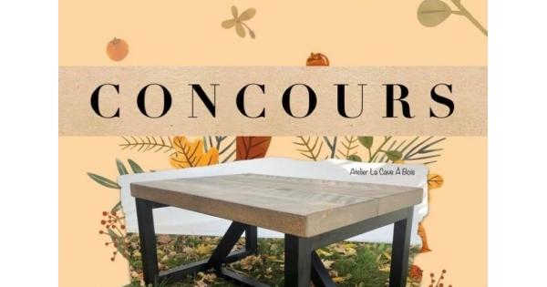 Concours Gagnez une table de salon faite à la main par un artisan!