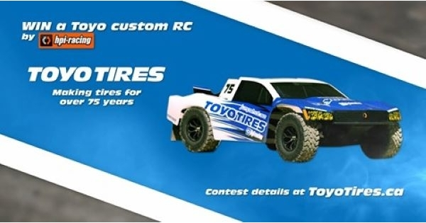 Concours Gagnez l'un des 20 camions radioguidés co-marqués Toyo Tires!
