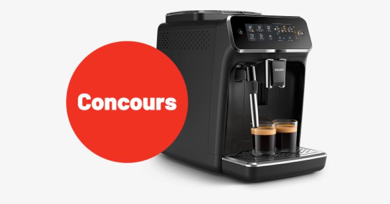 Concours Gagnez une machine à café automatique 3200 Series de Philips!