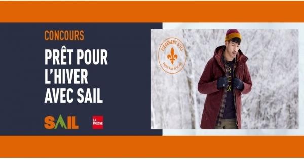 Concours Gagnez l'un des 3 prix de 1000$ en cartes-cadeaux échangeable dans tous les magasins SAIL!