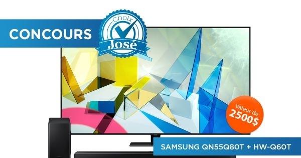 Concours Gagnez un téléviseur & une barre de son Samsung d'une valeur de 2500$!
