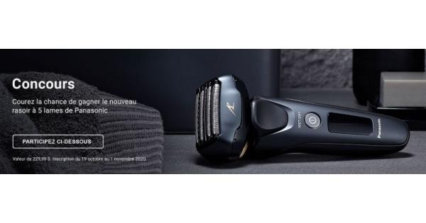 Concours Gagnez le nouveau rasoir à 5 lames de Panasonic!