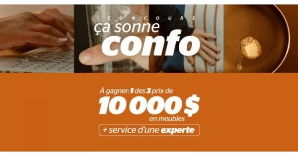 Concours Gagnez l'un des 3 grands prix de 10 000$ en meubles chez Brault & Martineau!