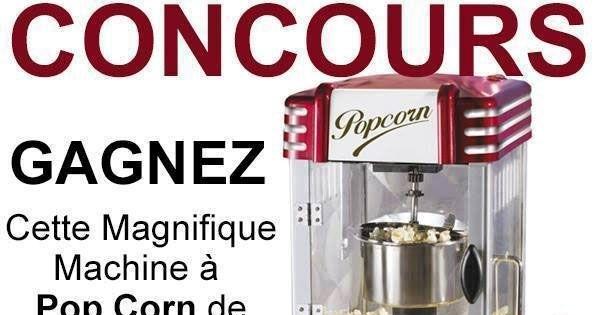 Concours Gagnez une Machine à Popcorn style Retro!