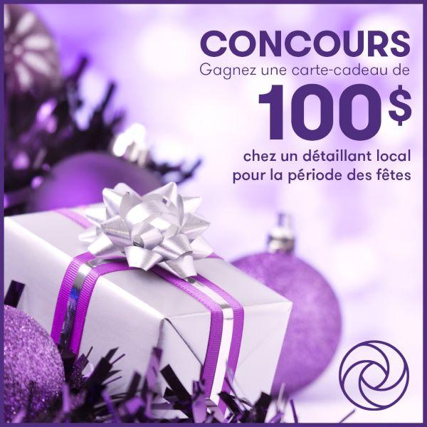 Concours Gagnez une carte-cadeau de 100$ chez un détaillant local!