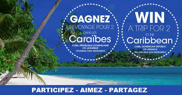 Concours Gagnez un voyage dans les Caraibes