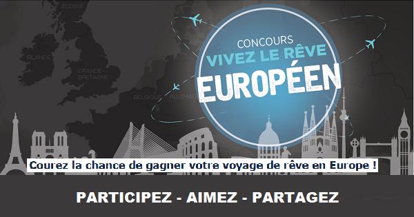 Concours Gagnez un voyage en Europe