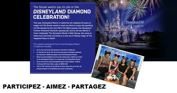 Concours Gagnez un voyage à Disneyland Resort