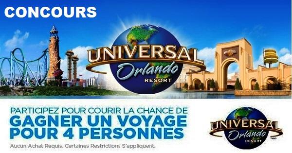 Concours gagnez un voyage au Universal Orlando Resort!