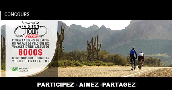 Concours Gagnez un voyage de vélo
