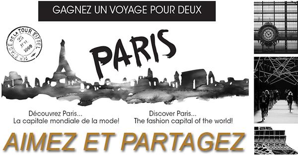 Concours  GAGNEZ UN VOYAGE À PARIS