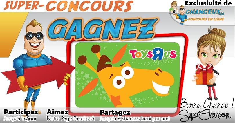 Concours Gagnez Une Carte Cadeau Toys R Us De 50 Concours Exclusif Concours En Ligne