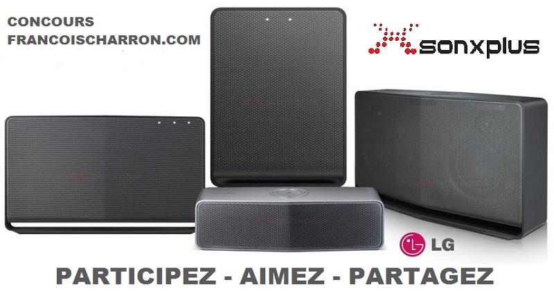 Concours Gagnez un ensemble de haut-parleurs LG Music Flow grâce à SONXPLUS!