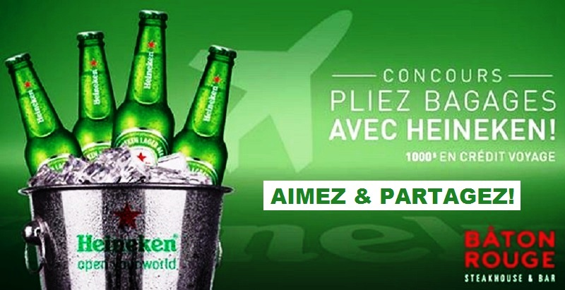 Concours PLIEZ BAGAGES AVEC HEINEKEN!