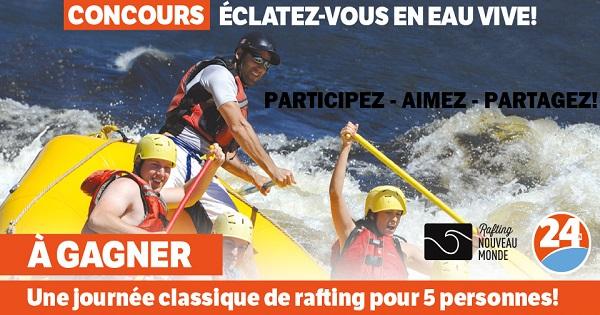 Concours Gagnez une journée classique de rafting pour 5 personnes!