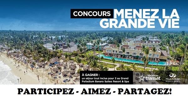 Concours Gagnez un séjour tout inclus pour 2 à l'hôtel Grand Palladium Bavaro Suites, Resort & Spa à Punta Cana!