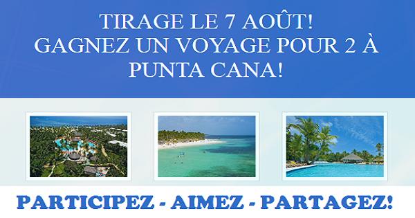 Concours Gagnez un voyage pour 2 à Punta Cana!