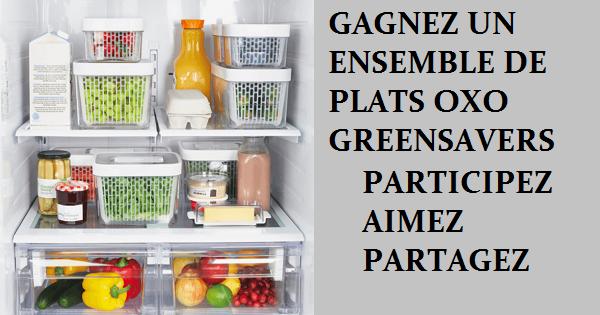 Concours Gagnez un ensemble de olats OXO greensavers