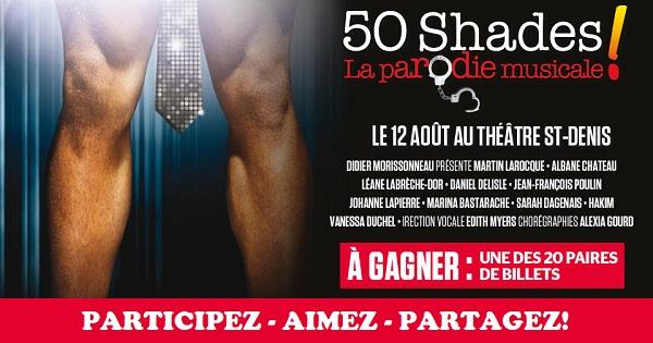 Concours Gagnez une paire de billets pour assister au spectacle 50 shades la parodie musicale!