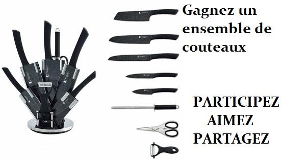 Concours Gagnez un ensemble de couteaux