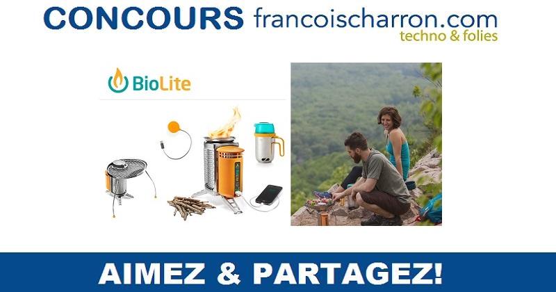 Concours Gagnez un ensemble d'accessoires de camping BioLite!