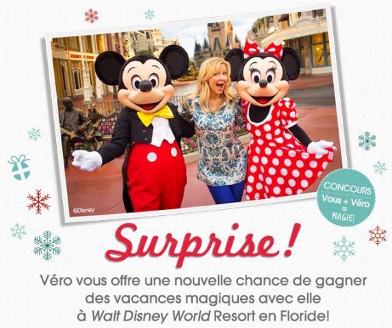 Concours Des vacances magiques à Walt Disney World avec Véro