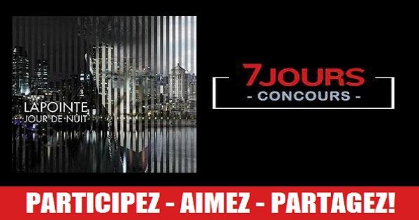 Concours Gagnez l'album Jour de nuit, d'Éric Lapointe, autographié!