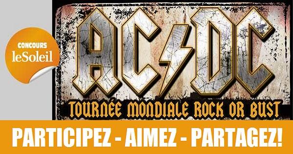 Concours Gagnez l'une des deux paires de billets ZONE AVANT-SCÈNE pour assister au spectacle de AC/DC!