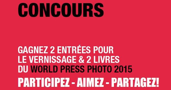Concours Gagnez une invitation double pour le vernissage et deux livres de l'exposition WORLD PRESS PHOTO!