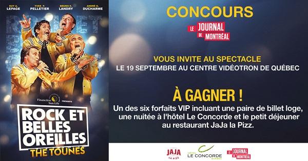 Concours Gagnez un des 6 forfaits VIP pour assister au spectacle de Rock et Belles Oreilles – The Tounes!