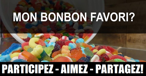Concours Gagnez un seau de 5 lb rempli avec les bonbon de votre choix!