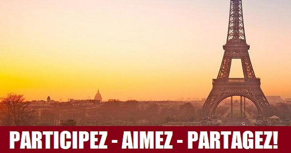 Concours Gagnez 2 billets aller-retour pour Paris!