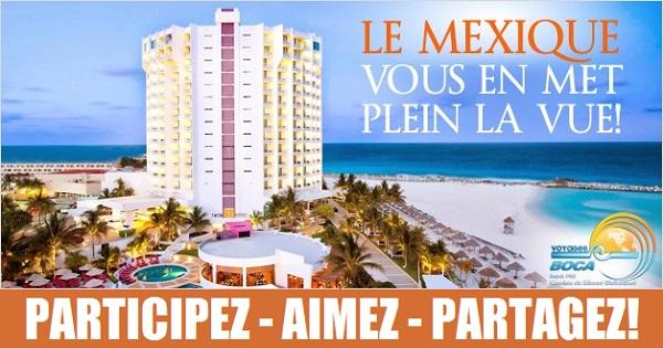 Concours Gagnez un séjour d'une semaine pour 2 adultes et deux enfants à Cancun!