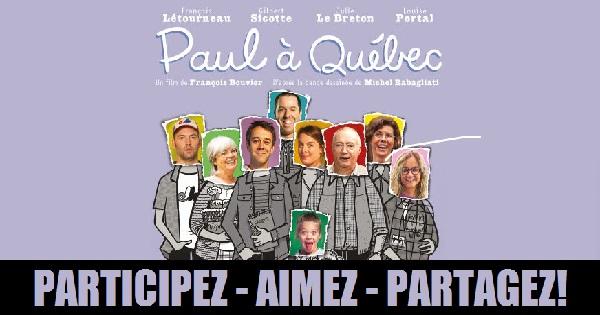 Concours Gagnez 1 des 25 laissez-passer doubles pour assister à la première du film Paul à Québec!