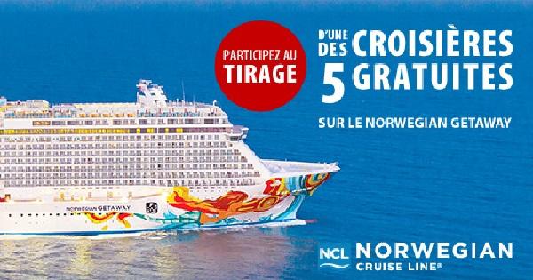 Concours Gagnez une croisière de 7 jours à bord d'un navire de Norwegian Cruise Line, à destination des Caraïbes!
