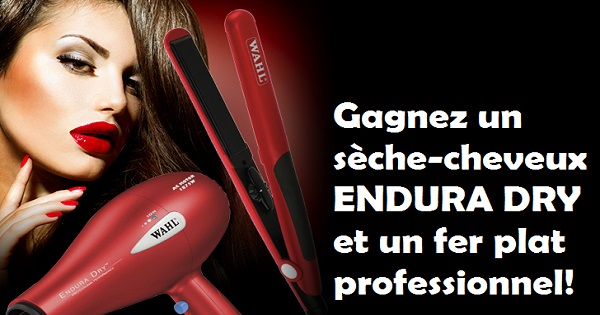 Concours Gagnez un sèche-cheveux ENDURA DRY et un fer plat professionnel!
