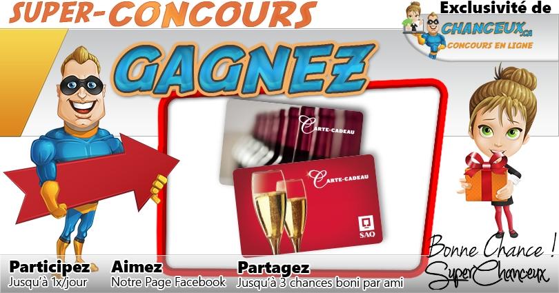 CONCOURS EXCLUSIF - Concours Gagnez une Carte-Cadeau SAQ de 50$