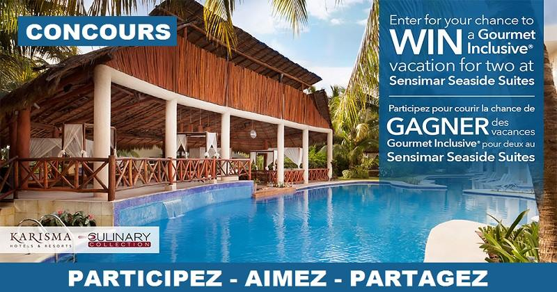 Concours Gagnez des vacances pour deux au Sensimar Seaside Suites and Spa au Mexique!