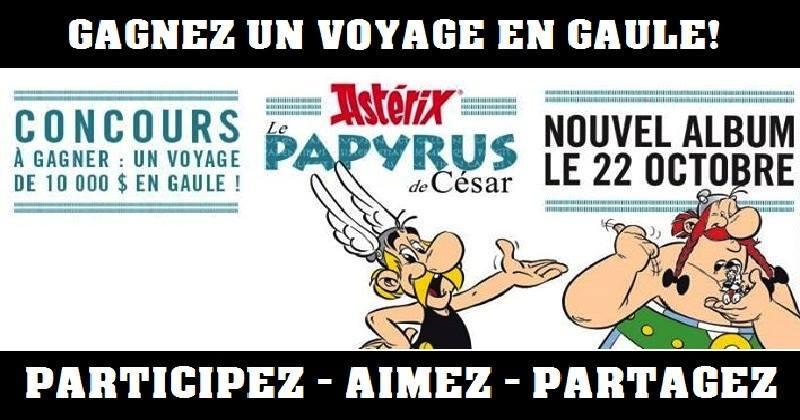 Concours Gagnez un voyage pour 4 personnes au Parc Astérix en Gaule, avion, hôtel, entrée VIP et 2 000$ d'argent de poche inclus!