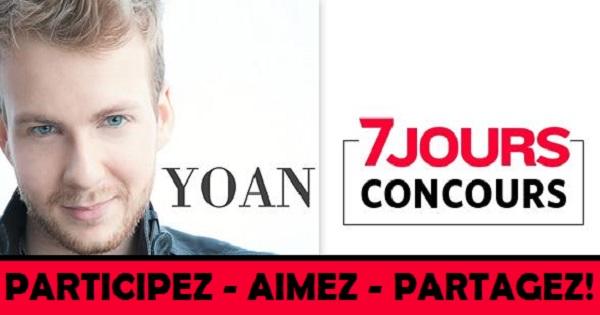 Concours Gagnez l'un des 7 albums ''éponyme'', dédicacé à votre nom, de Yoan!