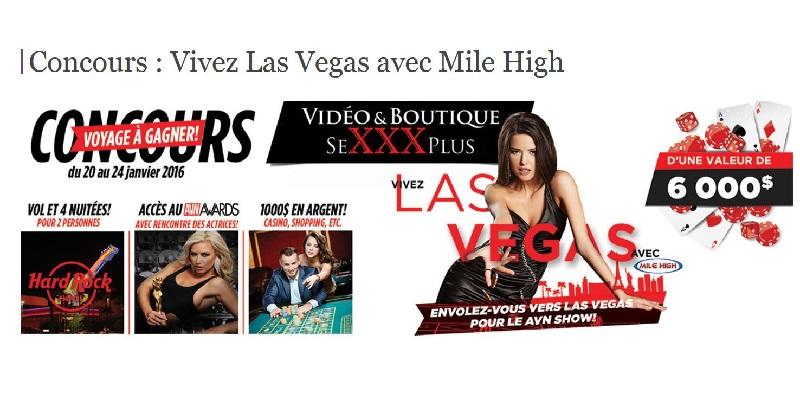 Concours Gagnez un voyage pour 2 personnes à Las Vegas pour assister au AVN AWARDS!