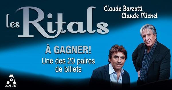 Concours Gagnez une paire de billets pour assister au spectacle Les Ritals le mercredi 28 octobre 2015!