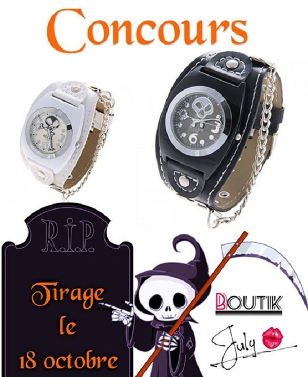 Concours Gagnez une montre de chez Boutik July!