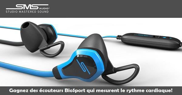 Concours Gagnez des écouteurs BioSport qui mesurent le rythme cardiaque!