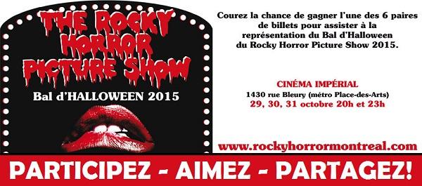 Concours Gagnez une paire de billets pour voir n'importe quelle présentation du film ROCKY HORROR PICTURE SHOW!