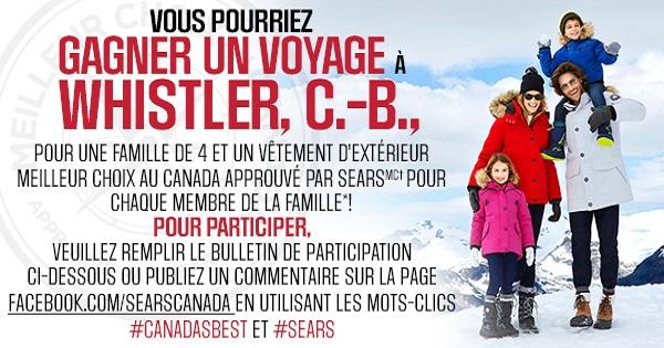 Concours Gagnez un voyage pour 4 personnes à Whistler!