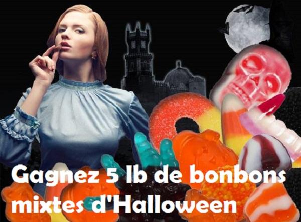 Concours Gagnez 5 lb de bonbons mixtes d'Halloween!