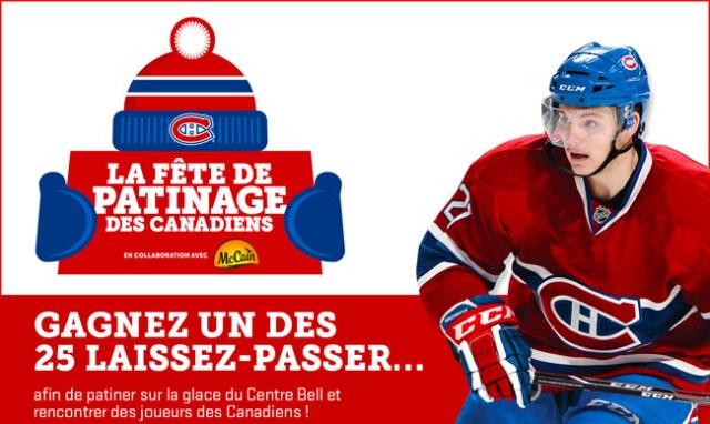 Concours Patinez avec les Canadiens!