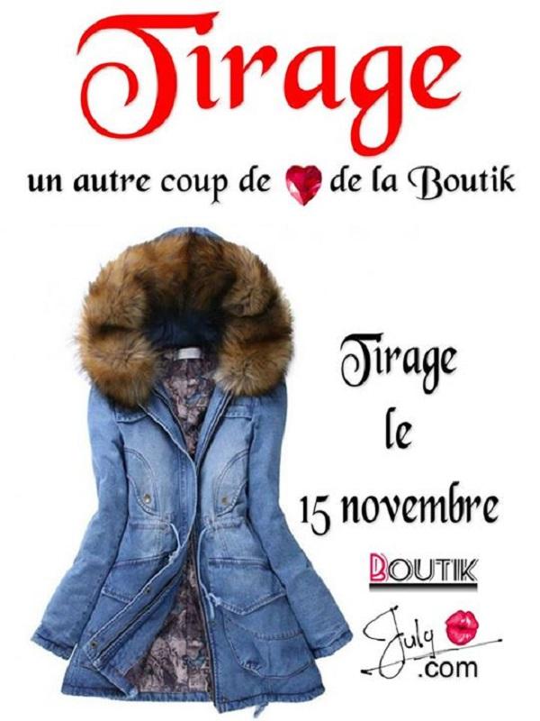 Concours Gagnez un manteau de la boutique Boutik July!